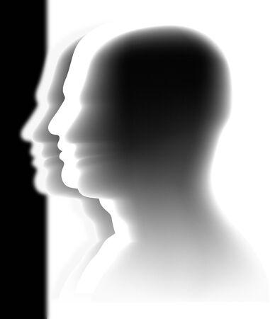 man face profile: cabezas - muchedumbre an�nima Vectores
