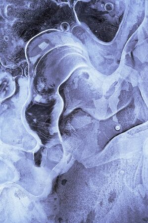vesicle: texture of ice - surface of ice