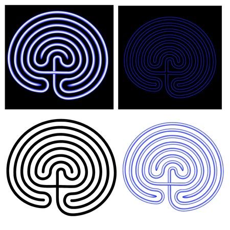 labyrinth 向量圖像