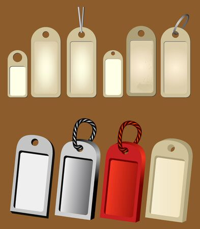 hang tags - labels - price tickets Vector