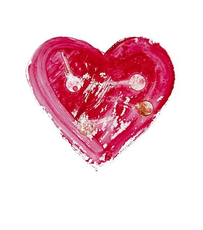 lovingly: painted heart - symbol of love