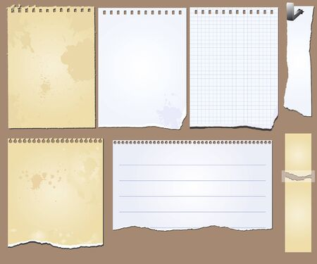 set of the grunge scrapbooks tablets and papers Stock Vector - 17387023