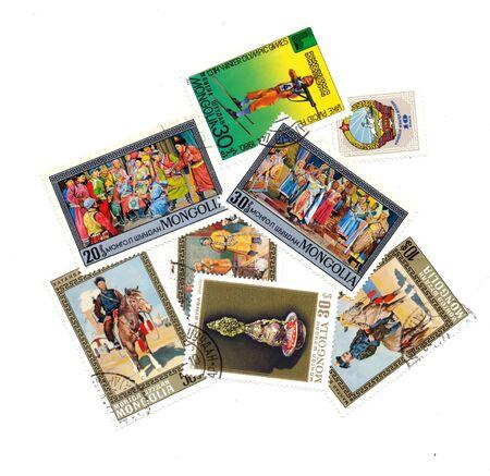 postmark: verschiedene Stempel von der Mongolei