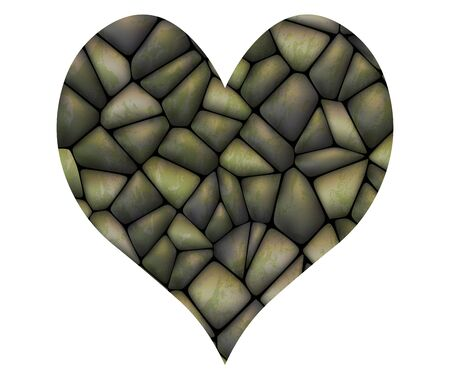 lovingly: Vector stone heart