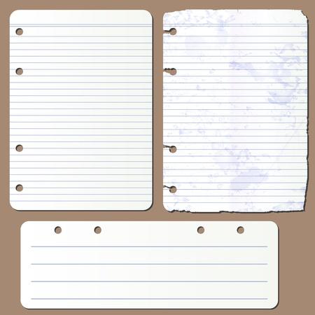 Pages vectorielle du bloc-notes