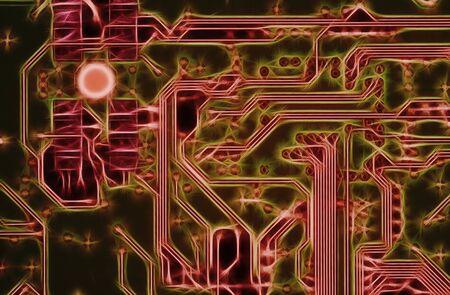 periferia: astratto di circuiti stampati - scheda madre - tecnologia