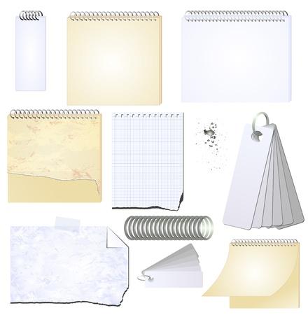scribbling:  grunge notepad memopad scrap book isolated