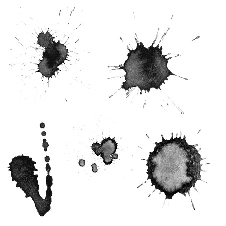 Vector ink blots Illustration