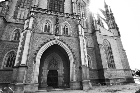 incorrectly: Saint Barbaras Church (often incorrectly Saint Barbara Cathedral) in Kutna Hora (Bohemia) is one of the most famous Gothic churches in central Europe Stock Photo