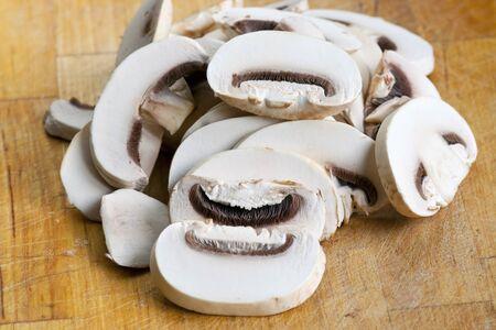 fungous: edible mushroom - button mushroom - champignon Stock Photo