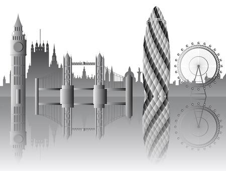 Vector Londense bezienswaardigheden