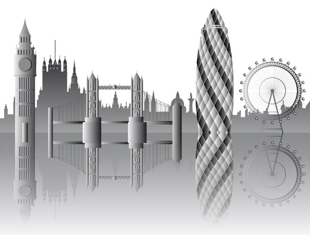Vector London Sehensw�rdigkeiten Illustration