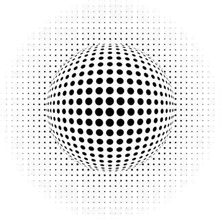 vector dots - optical illusion - abstract background Illustration