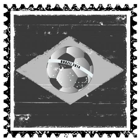 Vector Brazil flag like stamp in grunge style Vector