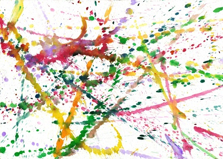 spat: colored blobs of paint on paper