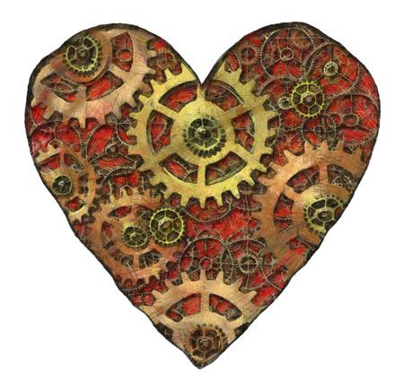 merciless: mechanical heart Stock Photo