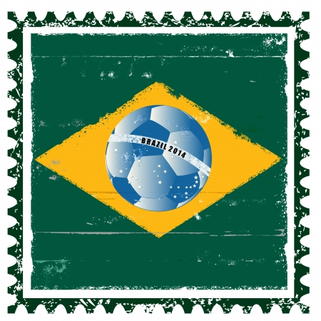 Vector Brazil flag like stamp in grunge style Vector