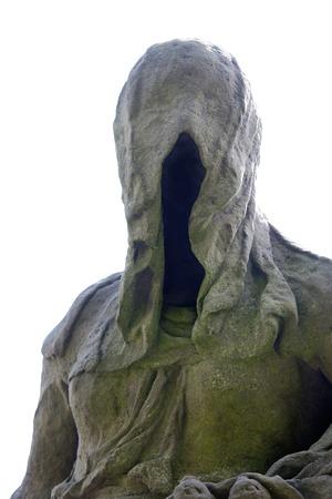 frightening: Baroque statue - faceless