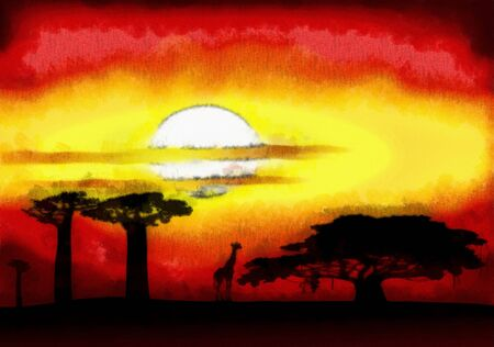 gloaming: Africa sunset
