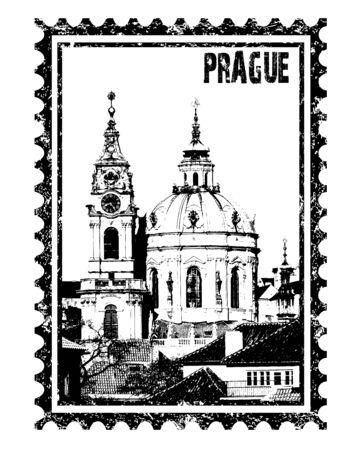 steeple: Vector St Nikolas church, Prague