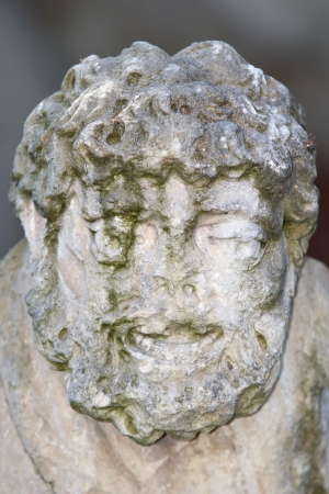 myst: Baroque sculpture - faceless Stock Photo