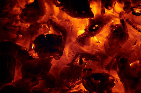 embers: glowing ashes - embers Stock Photo