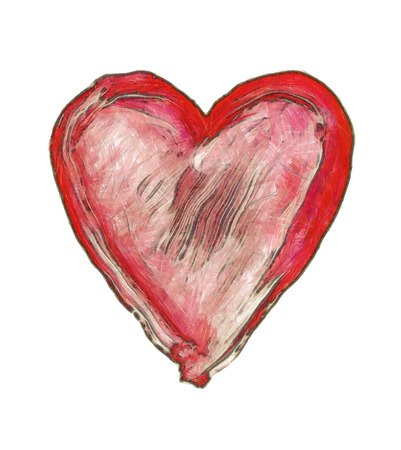 amorousness: painted heart - symbol of love