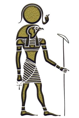 god figure: Ra - God of the Sun - God of ancient Egypt