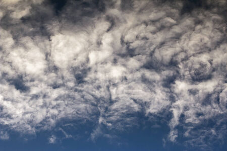 lurid: sky - bizarre clouds on the sky Stock Photo