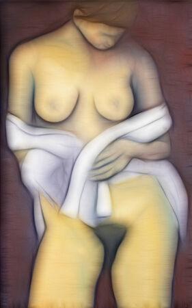 desnudo de mujer: mujer desnuda - Mujer con velo