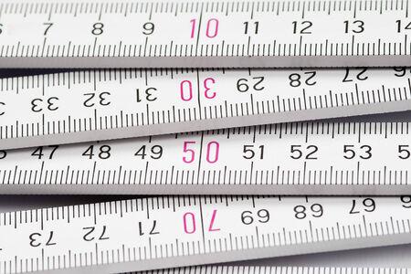 Gliedermaßstab - Messen Sie zweimal, einmal schneiden