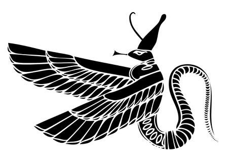 demoniacal: vector Egyptian demon - dragon Illustration
