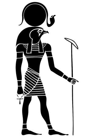 Vecteur Ra ??- Dieu du Soleil - Dieu de l'Egypte ancienne Banque d'images - 27334694