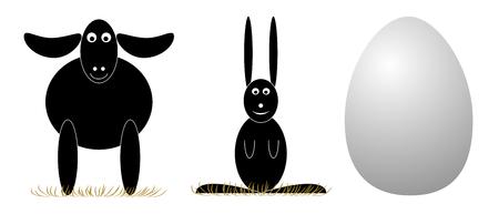 Vector Easter elements