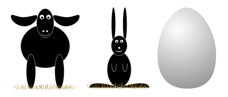 paschal lamb: Vector Easter elements