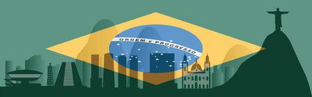 janeiro: Vector Rio de Janeiro skyline