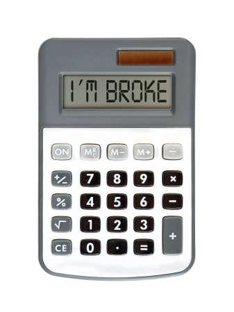 Message on display - money talks - I am broke