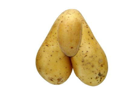penis: detail of the bizarre potato - digitally altered Stock Photo