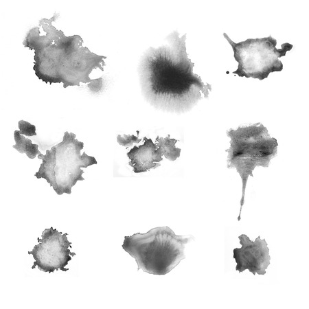 various gray blots - inkstains photo