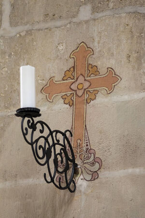 sconce: Sconce and cross