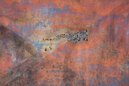 eroded: rusty metal - abstract texture