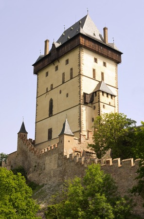 crenelation: Karlstejn Castle - Big Tower Editorial