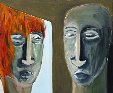 oddity: Mirroring - abstract panting