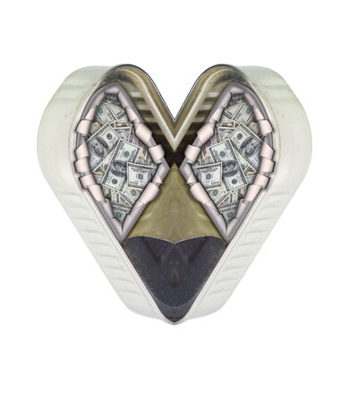 symptomatic: money, tin, heart