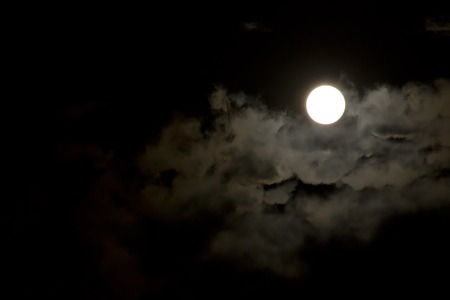 otherworldly: clouds and moon