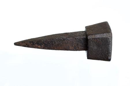 tang: old rusty nail - tang Stock Photo