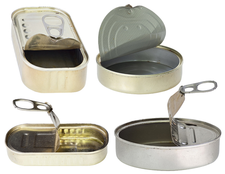 open empty cans - metal tins
