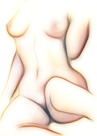 nudity: naked body of woman - torso