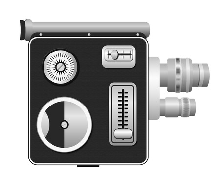 cine: old cine camera - spring drive camera 8 mm