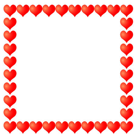 vector frame from hearts Stock Illustratie